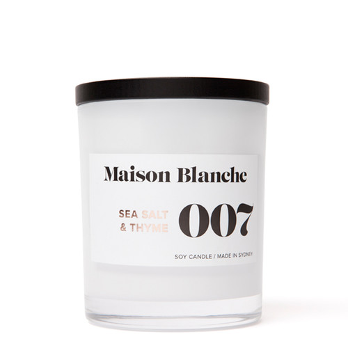 007 Sea Salt & Thyme / Large Candle