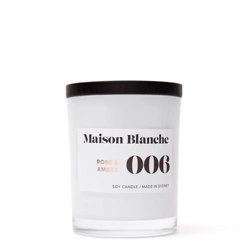 006 Rose & Amber / Medium Candle