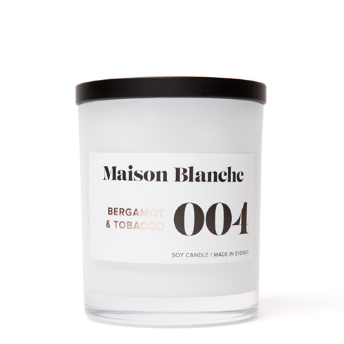 004 Bergamot & Tobacco / Large Candle