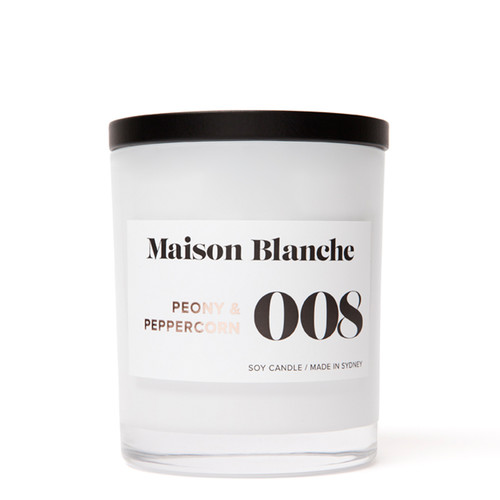 008 Peony & Peppercorn / Large Candle
