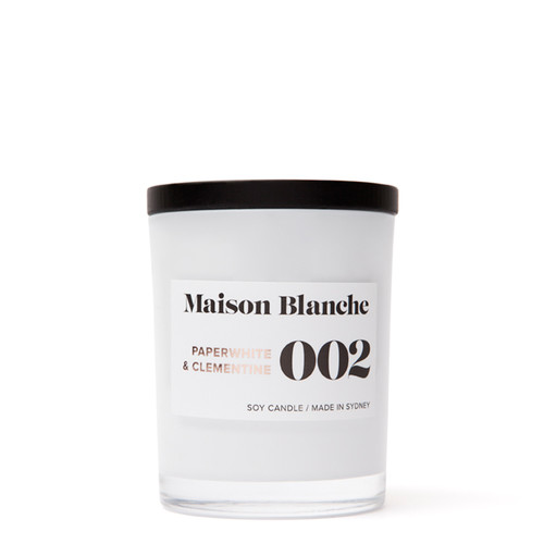 002 Paperwhite & Clementine / Medium Candle