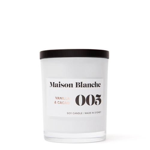 005 Vanilla & Cacao / Medium Candle
