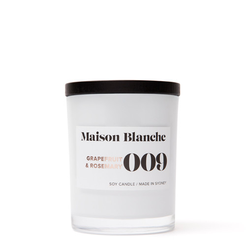 009 Grapefruit & Rosemary / Medium Candle