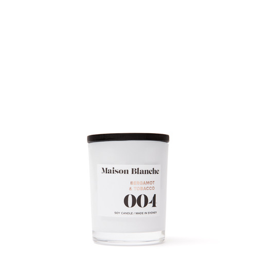 004 Bergamot & Tobacco / Small Candle